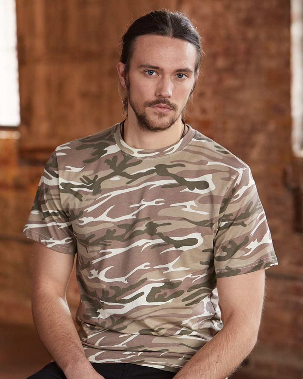 Anvil Heavyweight Camouflage Camo Tee T-shirt Green or Sand