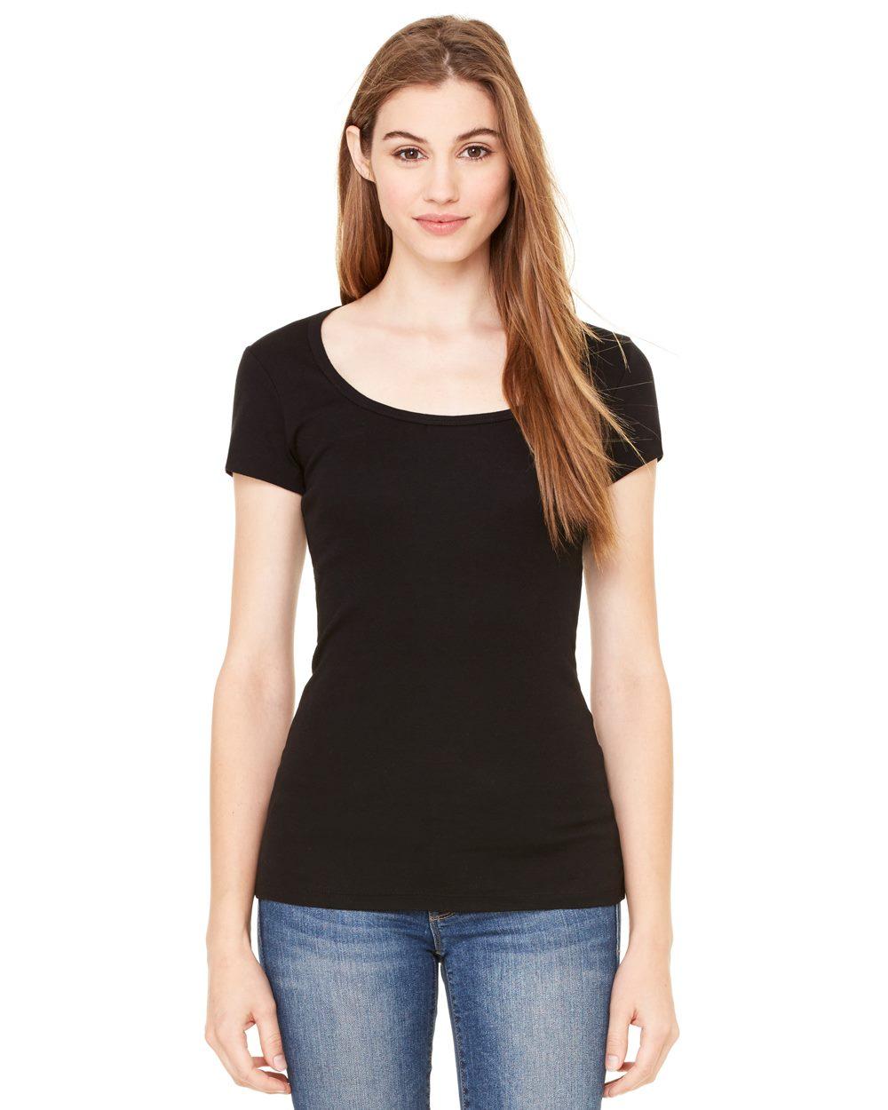 Bella Canvas Sheer Mini Rib Long-Sleeve V-Neck T-Shirt B8750
